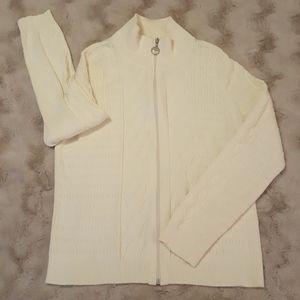 LizGolf front-zipper sweater sz LARGE